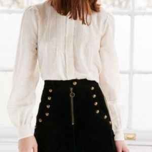 Victorian style ivory colored blouse
